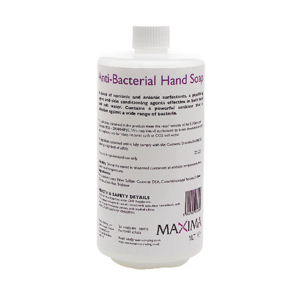 Unperfumed Bactericidal 1 Litre Hand Soap (Pack of 2) KSEMAXBS1