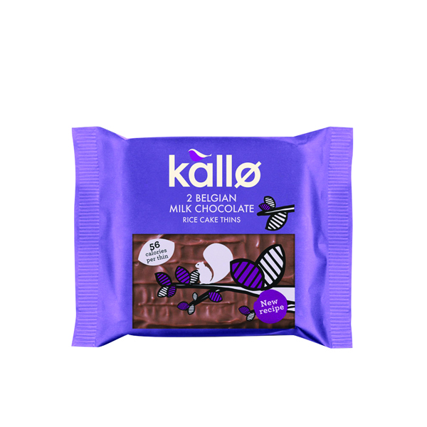 Kallo Milk Chocolate Rice Cake Thin (Pack of 21) 0401171