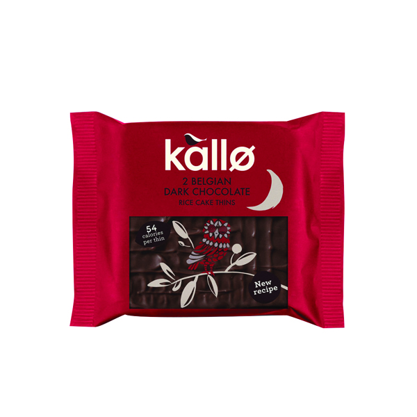 Kallo Dark Chocolate Rice Cake Thin  (Pack of 21) 0401167