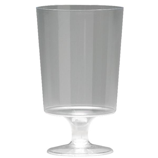 Plastic Stem Wine Glasses Clear 200ml (Pack of 25) KPLPWG