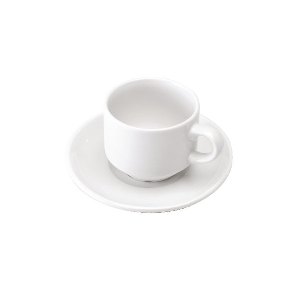 Cup and Saucer (Pack of 6) White 305091