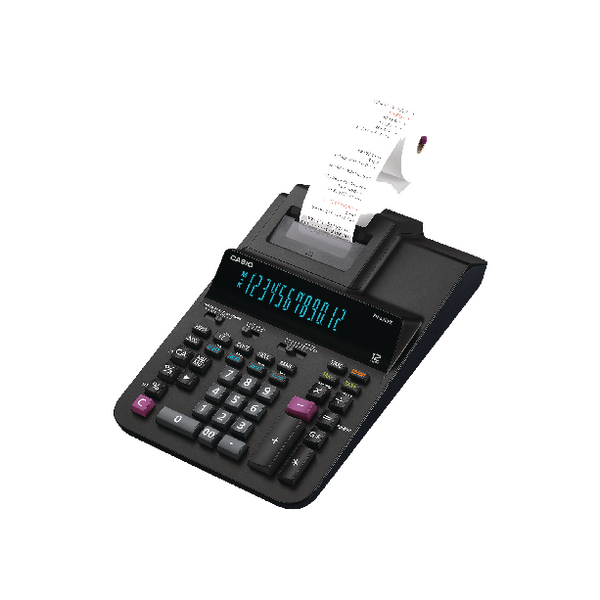 Casio 12 Digit Printing Calculator Black FR620 RE