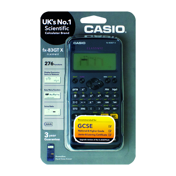 Casio Scientific Calculator FX-83GTPLUS - Black