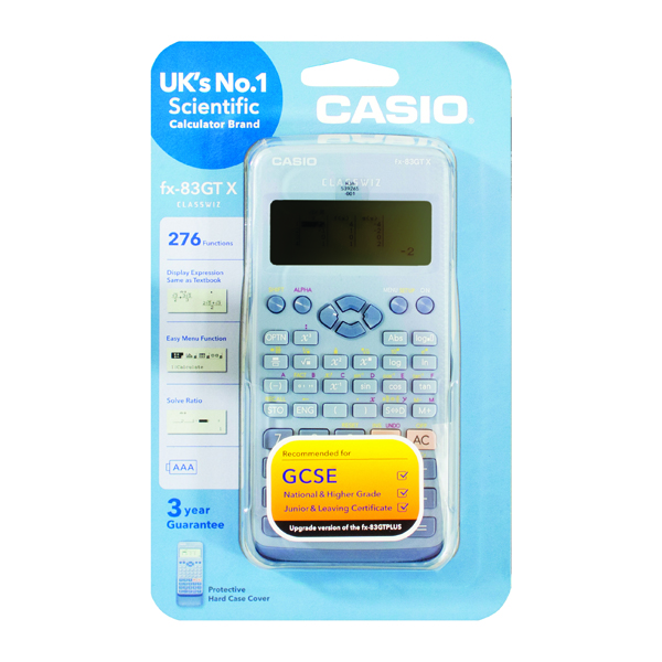 Casio Scientific Calculator Twin-Powered Blue FX-83GTX (Blue)