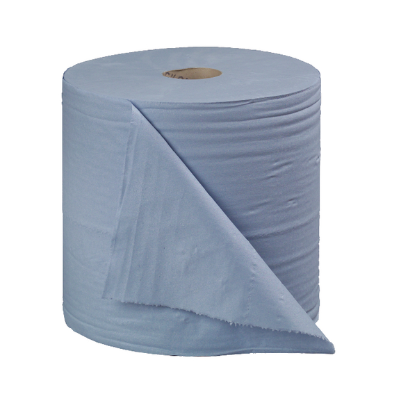 2Work 2-Ply Forecourt Roll 400m Blue (Pack of 2)