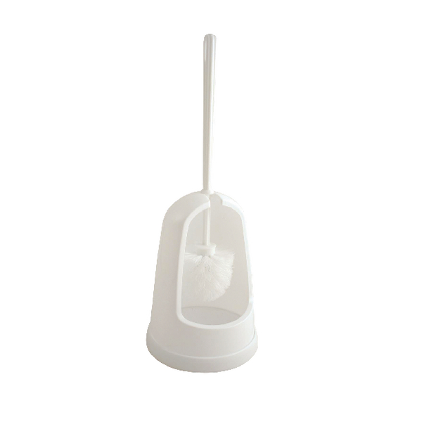 2Work Plastic Toilet Brush Set White P3309