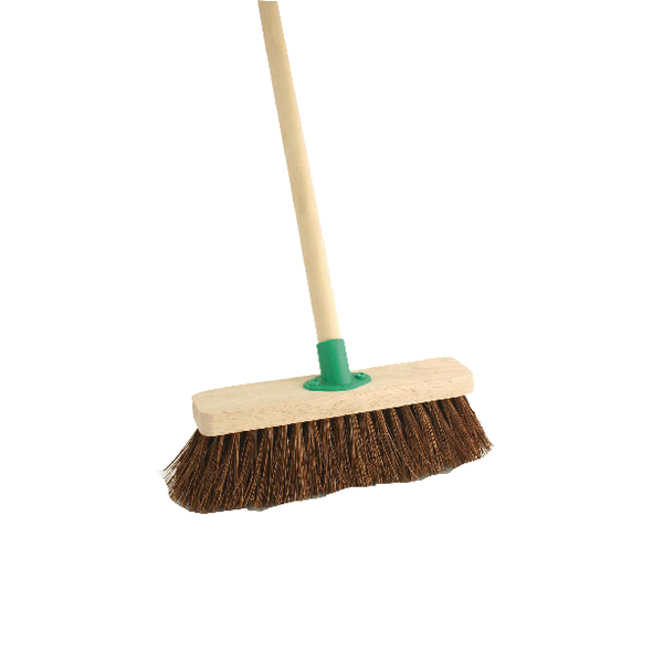 Bassine 12 Inch Stiff Broom With Handle VOW/F.10/BKT/C4
