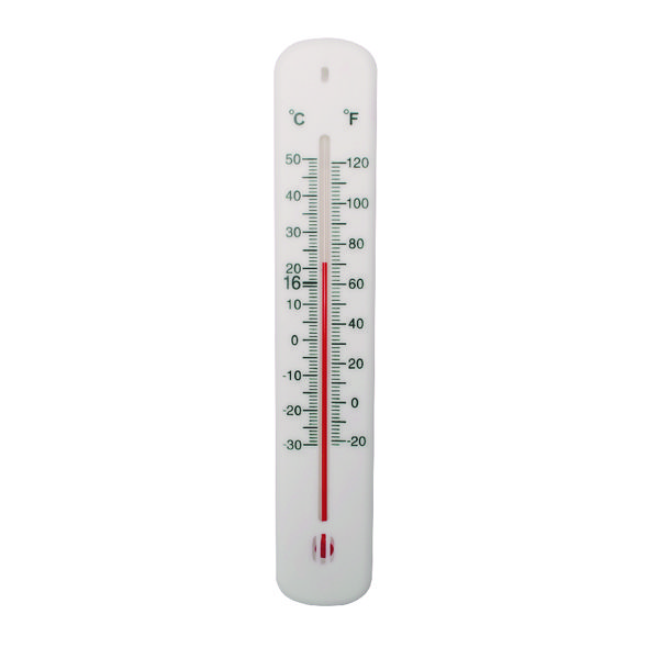Office Thermometer H200xW45mm White