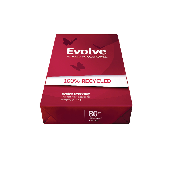 Image for Evolve White Everyday Recycled A3 Paper 80gsm 500 Sheets (Pack of 500) 3613630000554