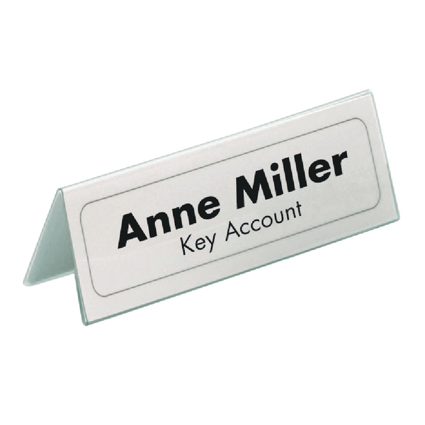 Durable Table Place Name Holder Inserts 52x100mm (Pack of 40) 1458/02