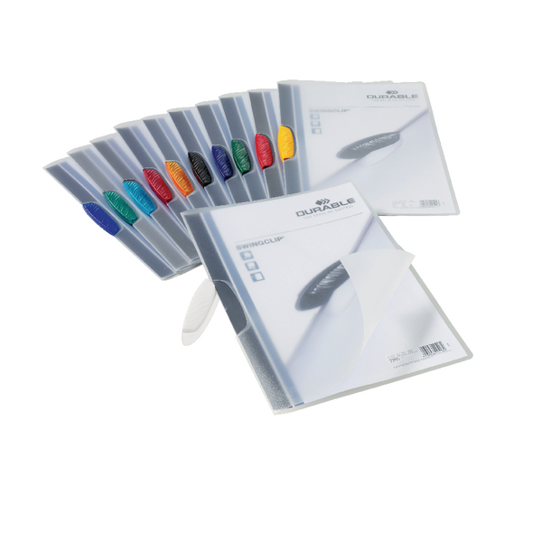 Durable 3mm Swingclip Folders Assorted (Pack of 25) 2260/00