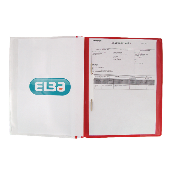 Elba Pocket Report File A4 Red (Pack of 25) 400055038