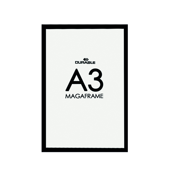 Durable A3 Black Duraframe (Pack of 2) 4873/01