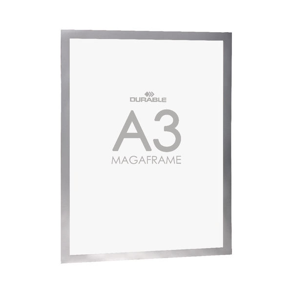 Durable Self-Adhesive Duraframe A3 Silver (Pack of 2) 4873/23