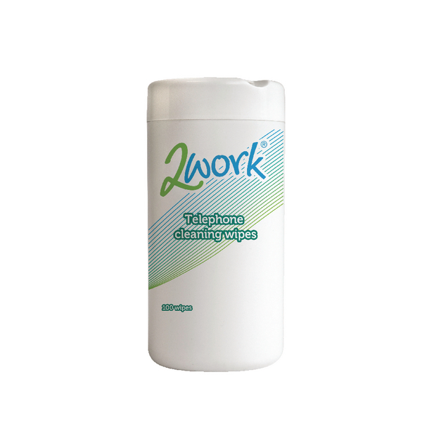 2Work Telephone Clean Wipes Tub of 100