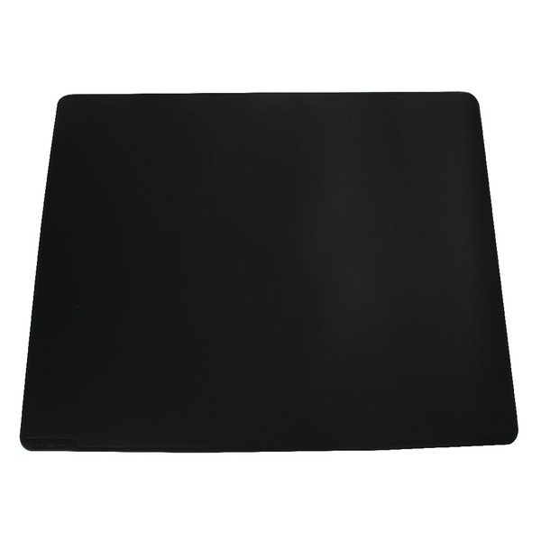 Durable Black Desk Mat With Contoured Edges 520x650mm 7103/01