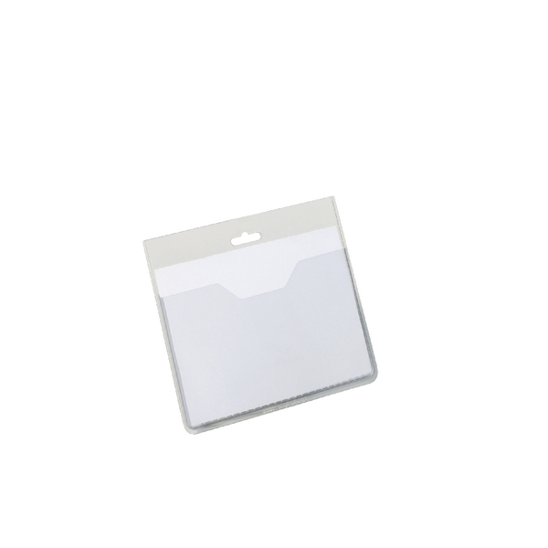 Durable Visitor Badge 60x90mm Clear (Pack of 20) 8136/19