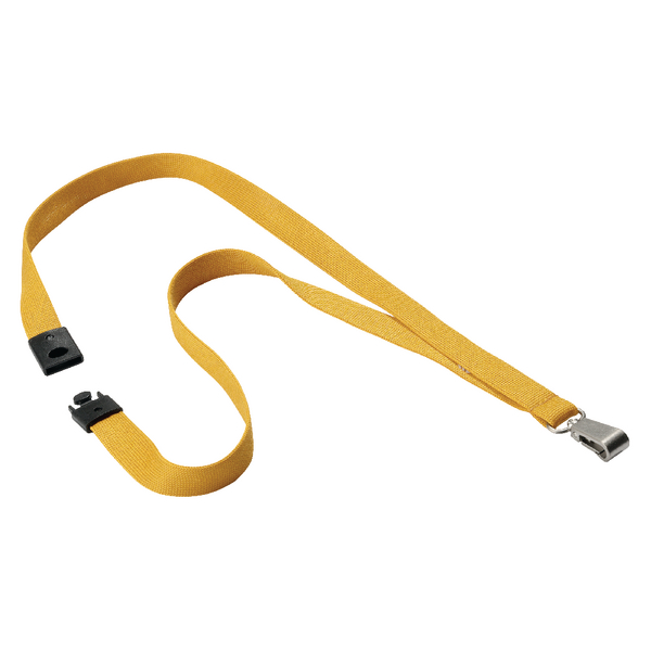 Durable Textile Lanyard With Snap Hook 15mm Ochre 8127135