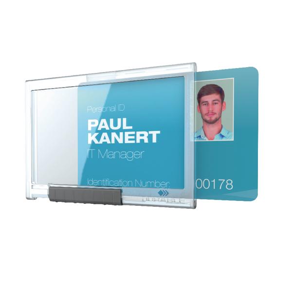 Durable Card Holder Pushbox Mono Pk10