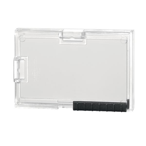 Durable Card Holder Pushbox Trio Transparent 892019