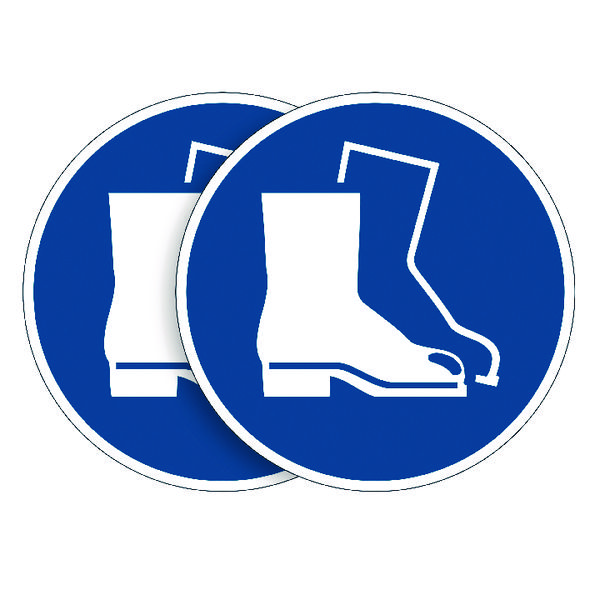 Durable Wear Foot Protection Sign (Pack of 5) BOGOF