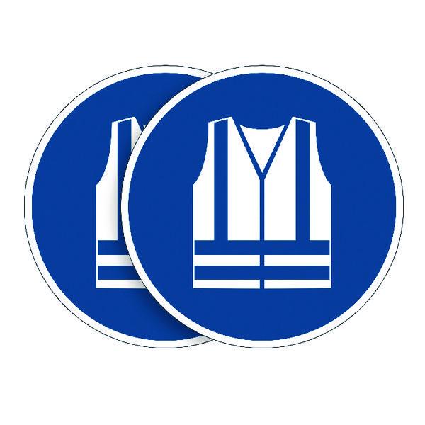 Durable Wear Safety Vest Sign (Pack of 5) BOGOF