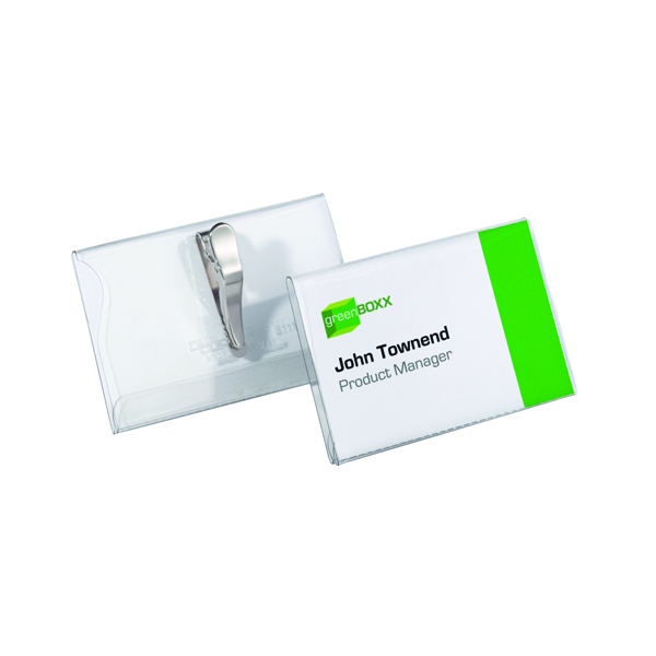 Durable Crocodile Clip Name Badge 55x90mm (Pack of 25) 8111