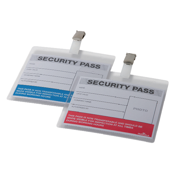Durable Colour-Coded Security Pass Holder (Pack of 25) 999108004
