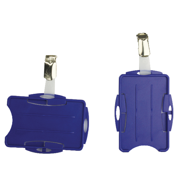 Durable Blue Dual Security Pass Holder (Pack of 25) 8218/06