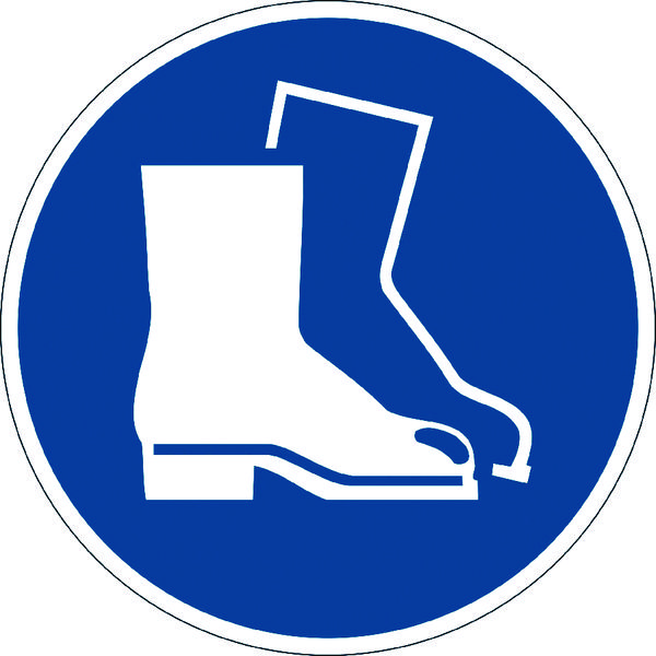 Durable Use Foot Protection Floor Sign 173306