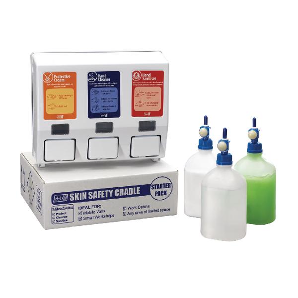 Deb Van Cradle Starter Kit (750ml creamer, 700ml hand cleanser, 700ml sanitiser) DCSP01PR
