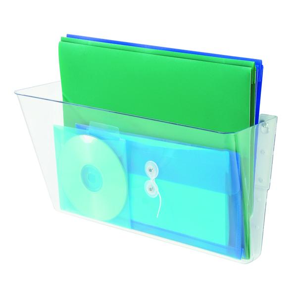 Deflecto Linking Wall File Pocket A4 Clear 73201