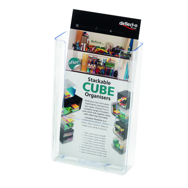 Deflecto DL Clear Flat Back Literature Holder DE76001