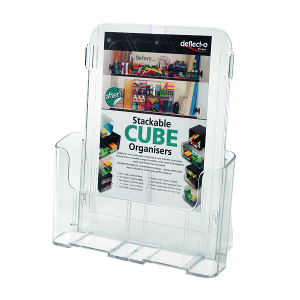 Deflecto A4 Clear Literature Holder 78001