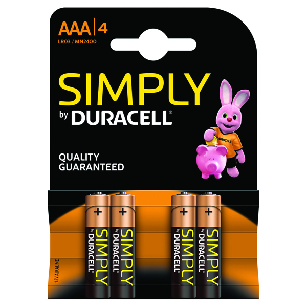 Image for 4 x Duracell Simply Battery  AAA (Long-lasting and consistent)  81235219