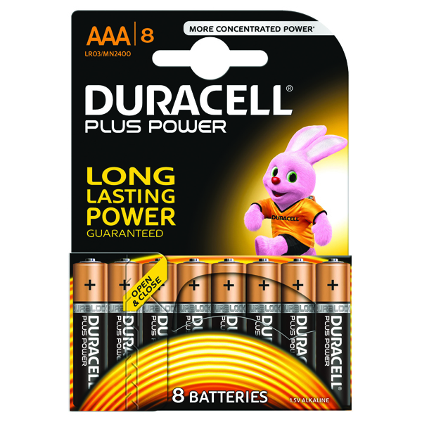 Duracell Plus AAA Battery (Pack of 8) 81275401