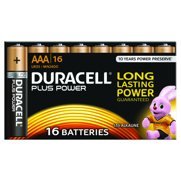 Duracell Plus AAA Battery Pk16