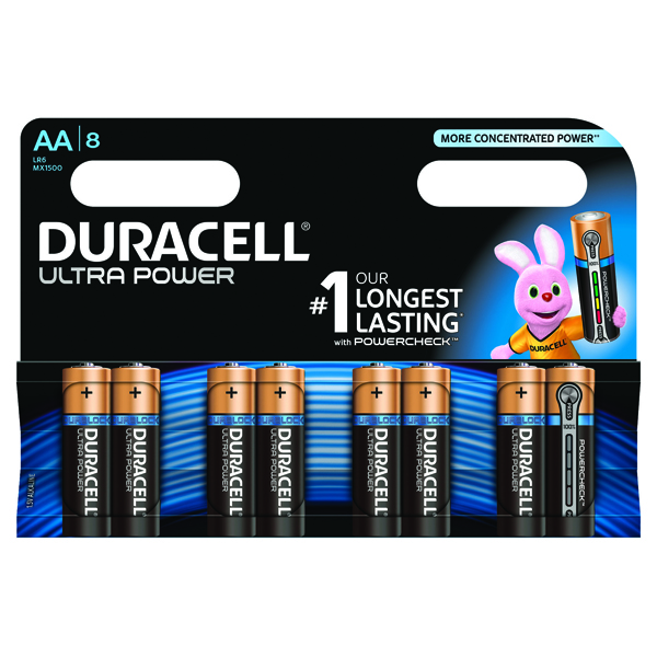 Duracell Ultra Power AA Batteries (Pack of 8) 75051925