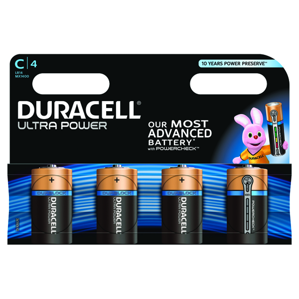 Duracell Ultra Power C Batteries (Pack of 4) 75051962