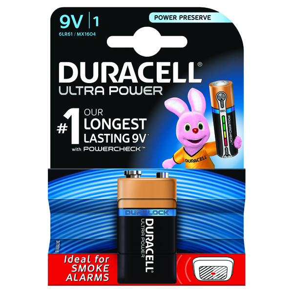 Duracell Ultra 9V Battery (Impressive shelf life) 75051968