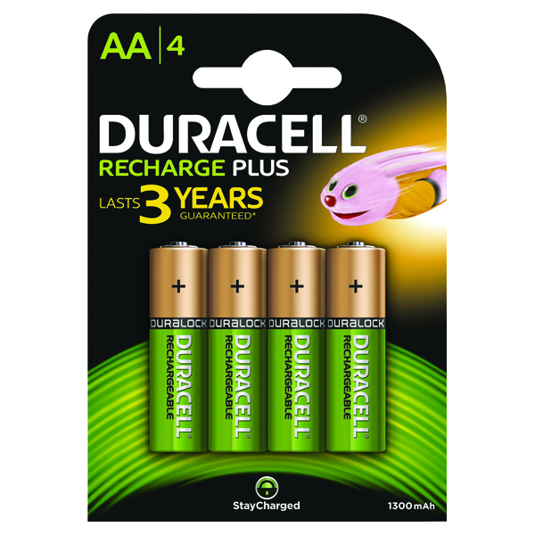 Duracell Rechargeable AA NiMH 1300mAh Batteries (Pack of 4) 81367177