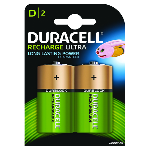 Image for Duracell D Rechargeable NiMH Batteries (Pack of 2) 15038743