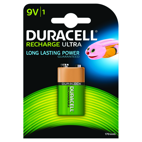 Image for Duracell Rechargeable ACCU NiMH Battery 9V 15038744