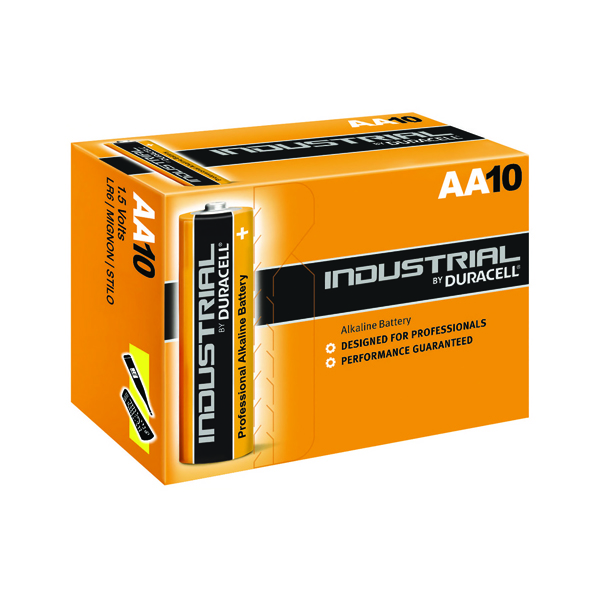Image for Duracell Industrial AA Alkaline Batteries (Pack of 10) 5000832 (0)