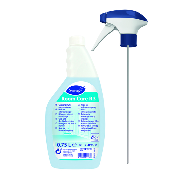 Diversey Room Care R3 Multisurface and Glass Cleaner 750ml (Pack of 6) 7509658