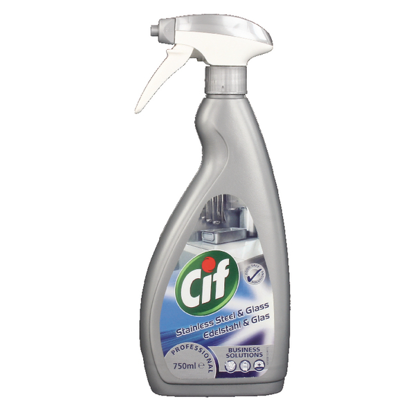 Cif Professional Stainless Steel and Glass Cleaner 750ml 7517938