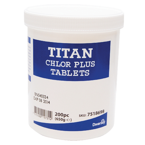 Titan Chlor Plus Chlorine Tabs (Pack of 200) 7518698