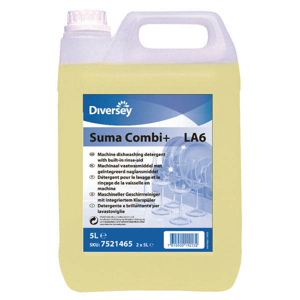 Suma Combi 2 in 1 Rinse Aid Detergent (Pack of 2) 7521465