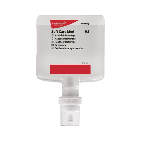 Diversey Soft Care Med H5 Hand Disinfectant Gel 1.3L (Pack of 4) 100938825