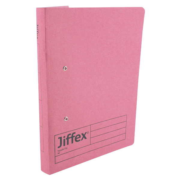 Rexel Jiffex Transfer File A4 Pink (Pack of 50) 43247EAST